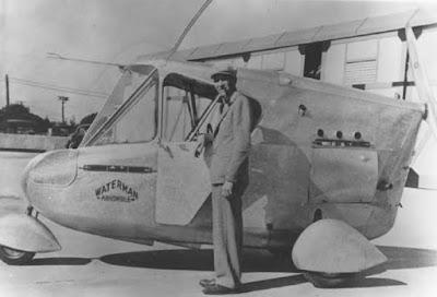 www.fertilmente.com.br - Waterman e seu Waterman Aerobile, o único protótipo construido.