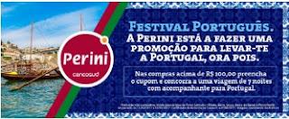 Promoção Lojas Perini 2017 Concorrer Viagem Lisboa Portugal