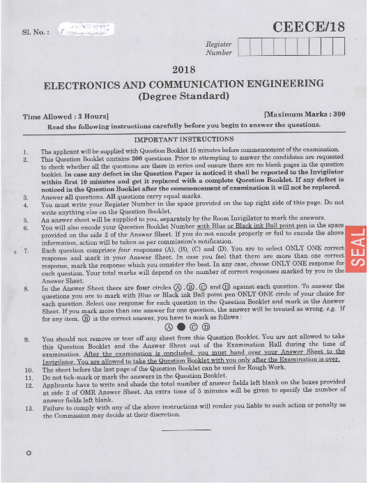 CDAC previous year question paper