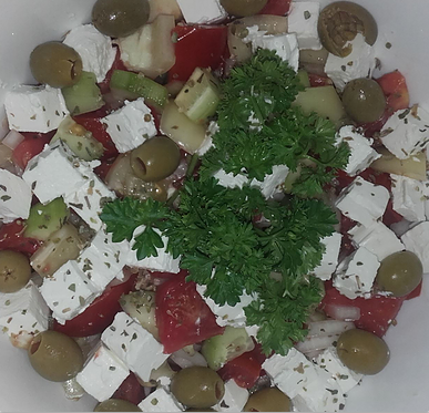 Refresh salad with olives-Osvezavajuca Salada sa maslinama