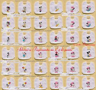 Amorevitacrocette Bavaglini Disney A Punto Croce E Crochet