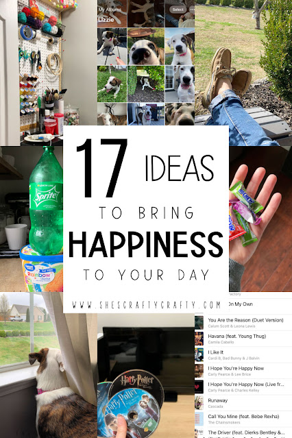 pinterest pin - 17 Ideas to bring Happiness to Your Day.