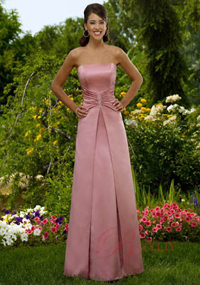 Long Bright Pink Bridesmaid Dress Designs Wedding Dress