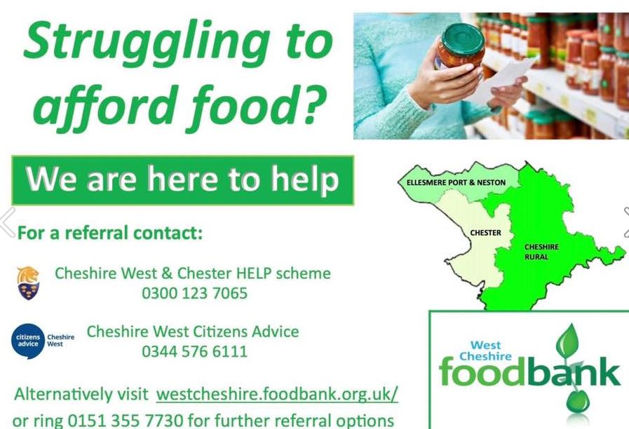 CHESTER HIVE: West Cheshire FoodBank - Struggling to Afford Food?