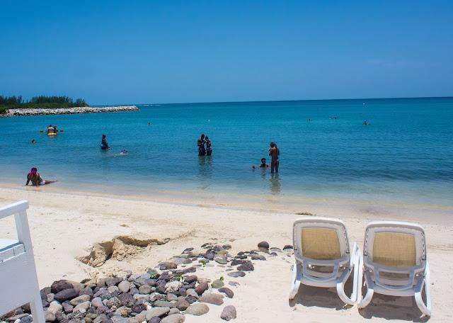 Beach front in RIU Montego Bay Jamaica