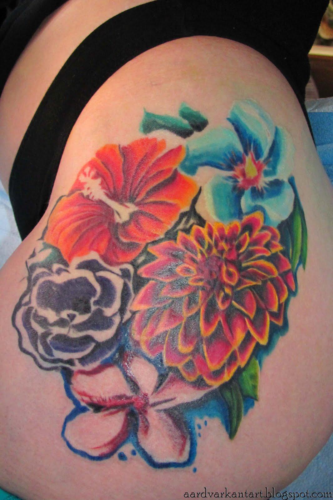 Side Hawaiian Flower Tattoos: 30 Artistic Hawaiian Flower Tattoos