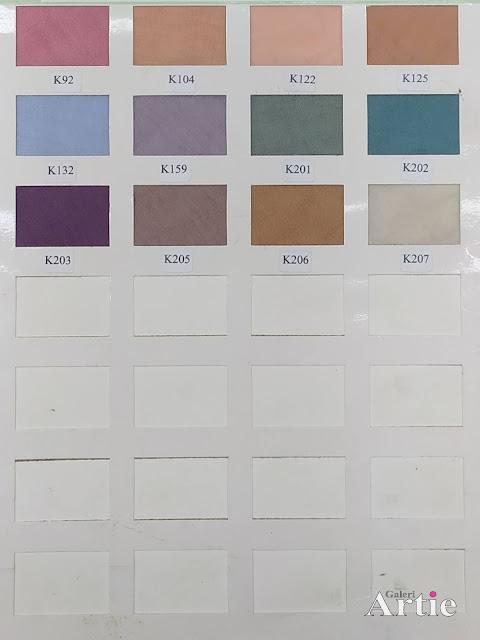 Carta warna terbaru tudung bawal cotton voile miyuki kangaroo