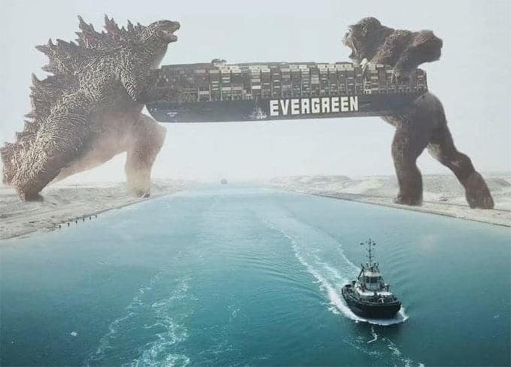 Nhờ siêu quái thú  khổng lồ để giải cứu con tàu mắc kẹt Ever Given