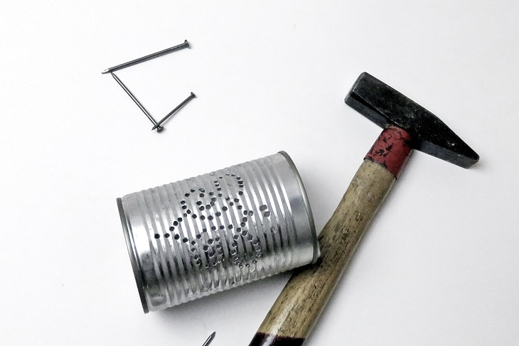 Hammer, NÄgel, Dosenleuchte