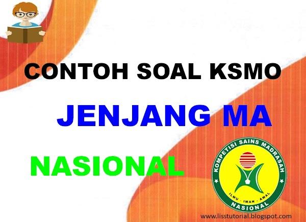 Contoh Soal KSMO Jenjang MA Tingkat Nasional