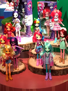MLP Equestria Girls Legend of Everfree Dolls at the NY Toy Fair 2016