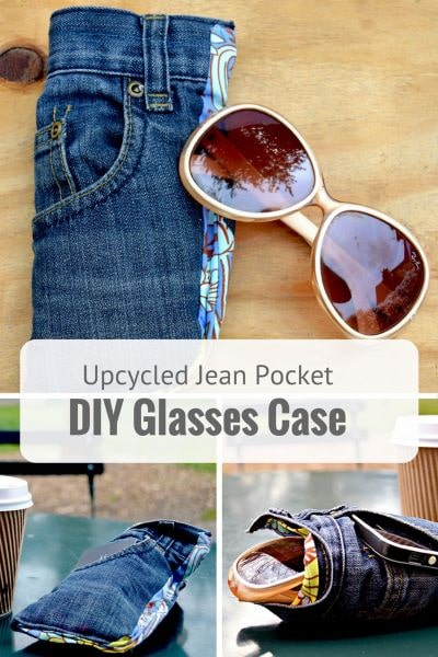 Great DIY gift to reuse your old jeans and save your sunglasses from scratches