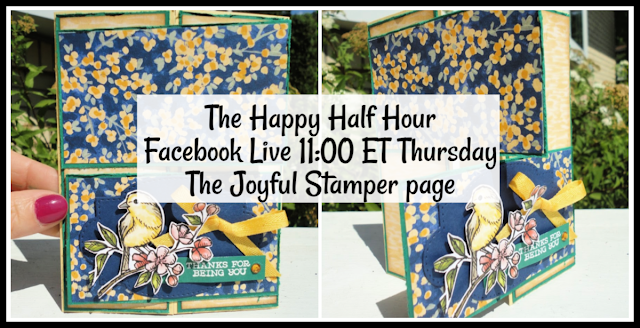 facebook live, stamping class, double panel gate fold card, fun fold, handmade cards, stampin' up!, independent stampin' up! demonstrator