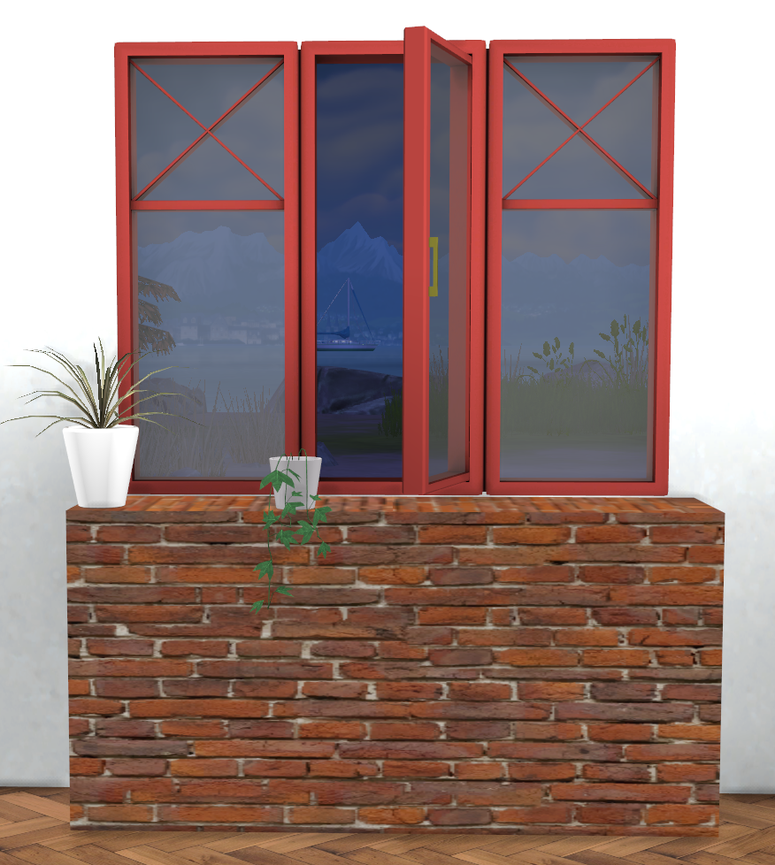 Fake Windows For Walls : My sims winter is coming windows with matching
