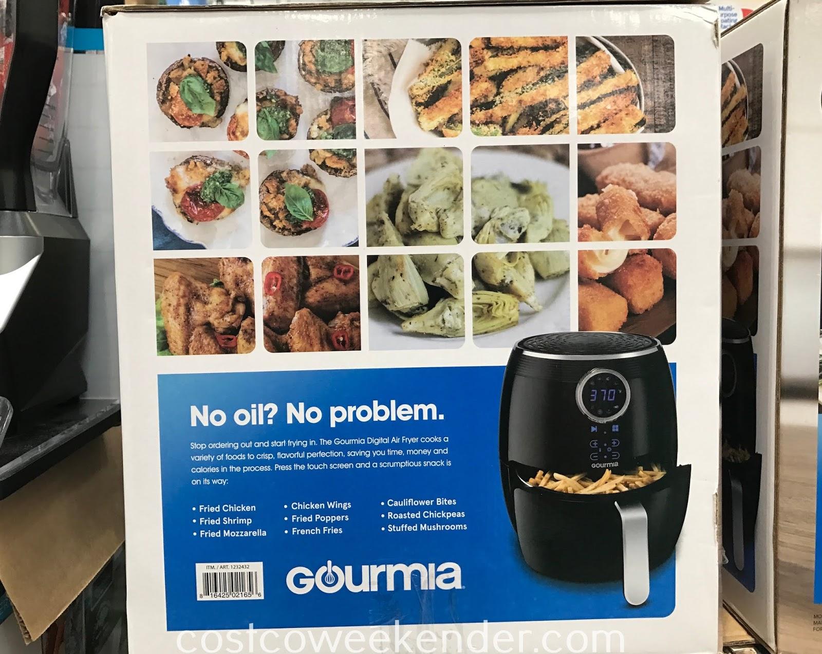 Gourmia 5qt Digital Air Fryer: great for a healthier lifestyle