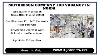 ITI Jobs In Motherson Sumi System India Pvt Ltd