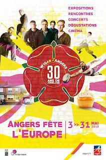Affiche d'Angers fête l'Europe