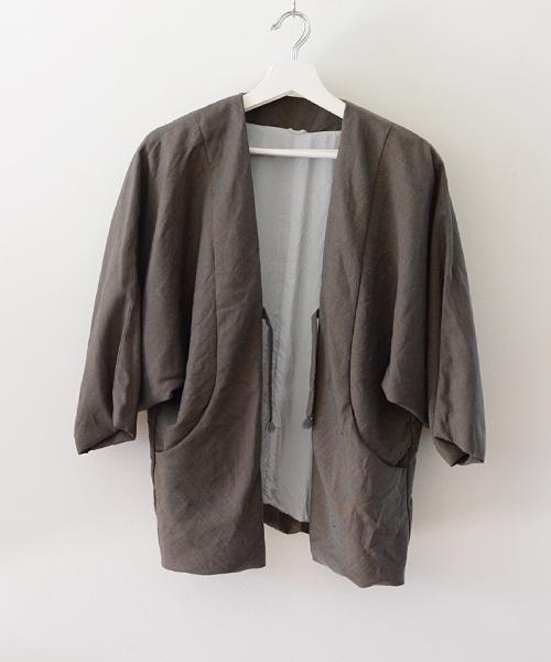 羽織 FUNS ジャケット ジャパンヴィンテージ アンティーク着物 紐留 Haori Jacket Japanese Vintage 70~80s Antique Kimono