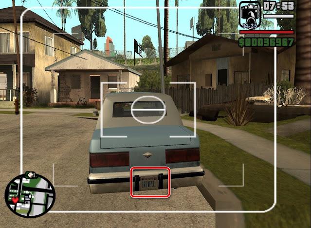 Gambar Plat Nomor Unik Kendaraan di GTA San Andreas & Artinya