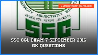 SSC Exam 7 September 2016