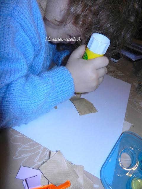 || Activité : Collage, faire de la récup et occuper les enfants