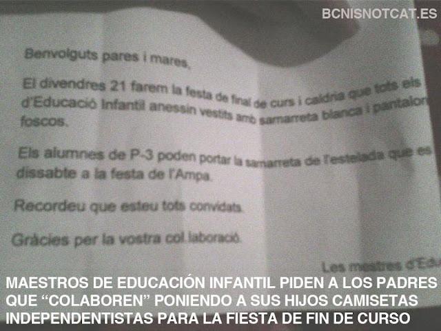 Cartas intimidatorias recibidas por padres de alumnos no independentistas desde la educación pública catalana