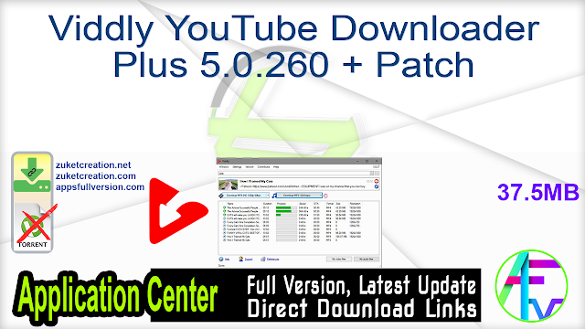 Viddly YouTube Downloader Plus 5.0.260 + Patch