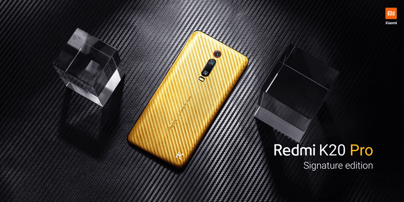 Redmi K20 Gold Edition debuted in India
