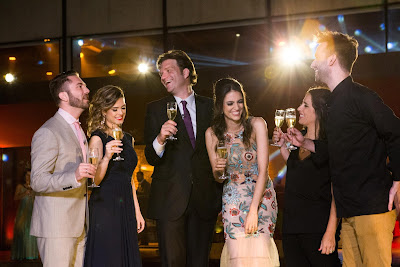 Lucas, Beca, Bertolazzi, Chris, Elisa e Hugo (Crédito: Gabriel Gabe/SBT)