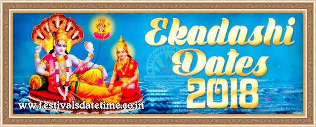 2018 Ekadashi Dates in India, 2018 Ekadashi Calendar