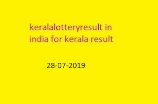 (RN-402) 28-07-2019 nirmal lottery sthree sakthi lottery result