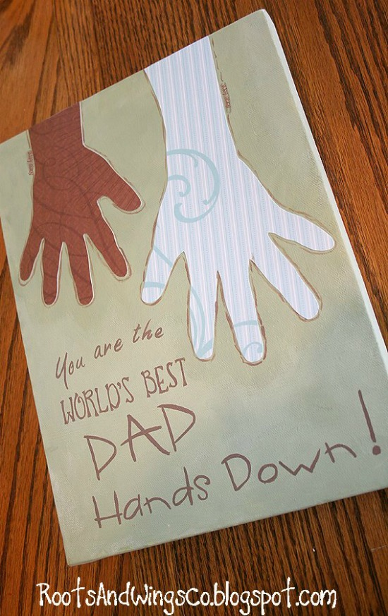 25 hand print gift ideas for Father's Day- how cute are these?  My hubby would LOVE!