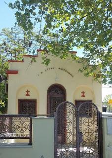 Το εκκλησάκι της Αγίας Φωτεινής, στο ΑΠΘ, μοναδικό στοιχείο μνήμης του ιστορικού προσφυγικού οικισμού.