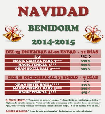 Navidad y Año Nuevo en Benidorm (Alicante)