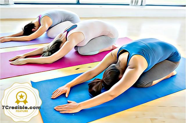 Image of Yoga Pose For Stress Relief ( Balasana ) Child's Pose