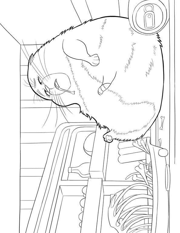 Coloring pages for kids free images: The secret life of Pets free ...