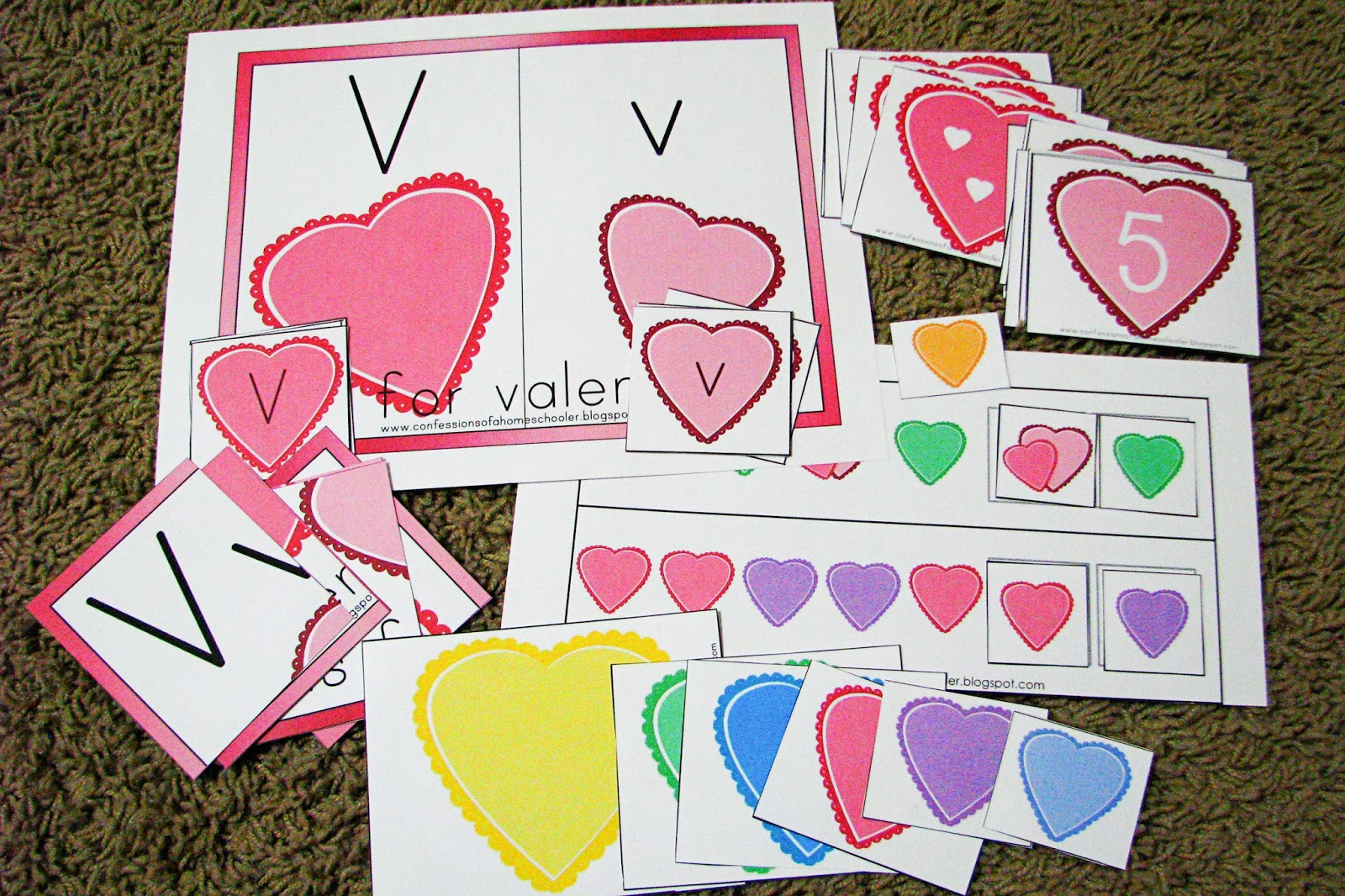 Mommy S Little Helper Letter V Valentine S Day Preschool