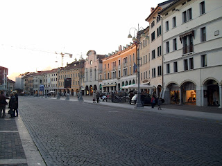Piazza dei Martiri is one of the central squares in the beautiful town of Belluno in northern Veneto