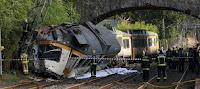 descarrilar un tren en Pontevedra
