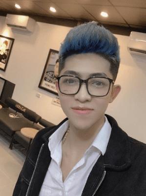 anh trường chủ shop online chia sẽ sau khi sử dụng keo xịt đổi màu tóc familiar
