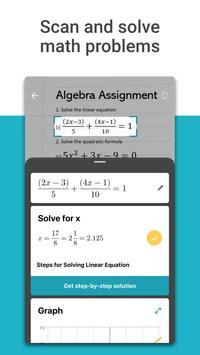 برنامج  Microsoft Math Solver  لحل المسائل الرياضية بالكاميرا