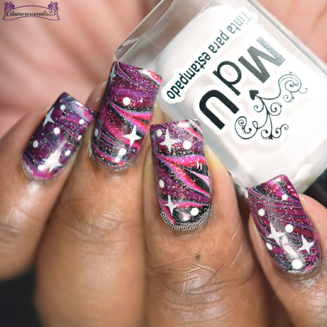 Challenge Your Nail Art February 2017 Week 4 - Galaxy