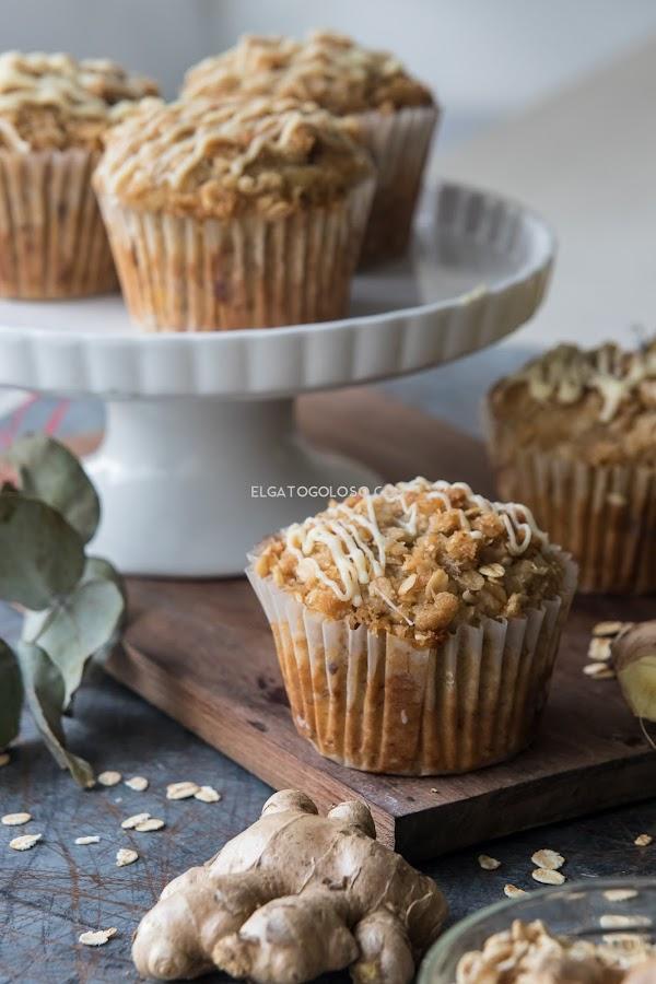"""No puedo parar de comer estos muffins de banana, avena y """"cualquier cosa"""""""
