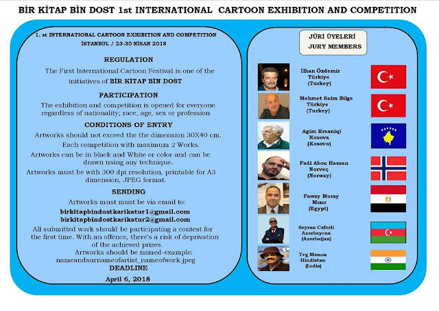 Bir Kitap Bin Dost 1st International Cartoon Exhibition and Competition