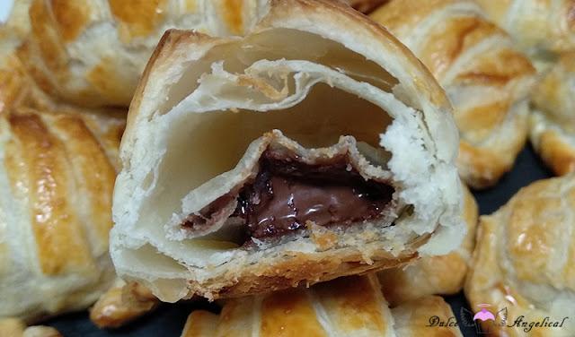 Deliciosos croissant relleno de Nutella