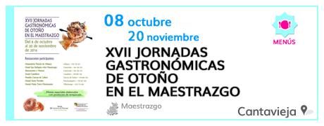 XVII Jornadas Gastronómicas de Otoño en el Maestrazgo