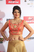 Harshika Ponnacha in orange blouuse brown skirt at Mirchi Music Awards South 2017 ~  Exclusive Celebrities Galleries 031.JPG