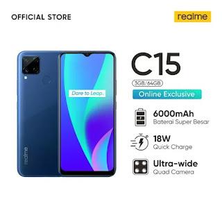 Varian Realme C15 muncul dalam daftar retailer