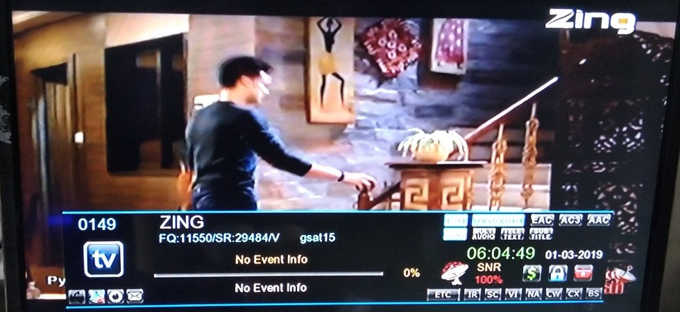 Zing added on DD Free Dish DTH at Channel No 75