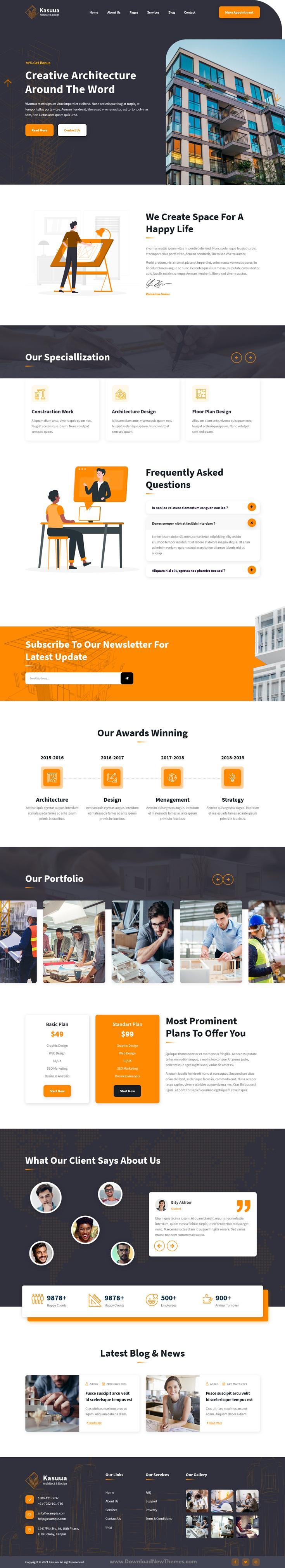 Architect & Design HTML Template